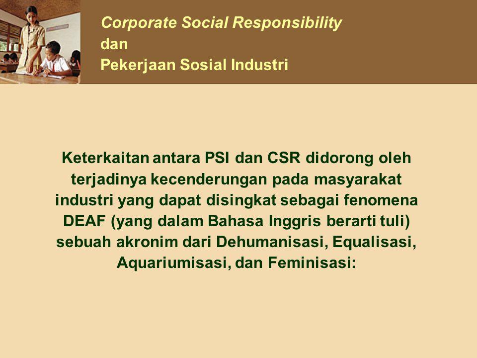 Corporate Social Responsibility dan Pekerjaan Sosial Industri