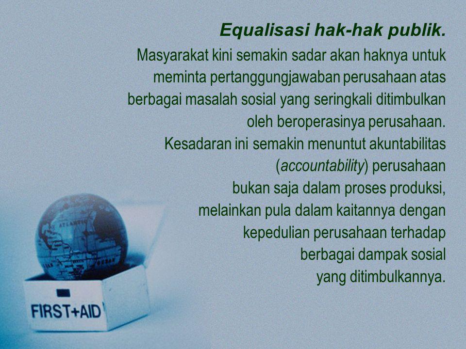 Equalisasi hak-hak publik.