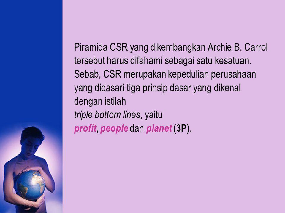 Piramida CSR yang dikembangkan Archie B. Carrol