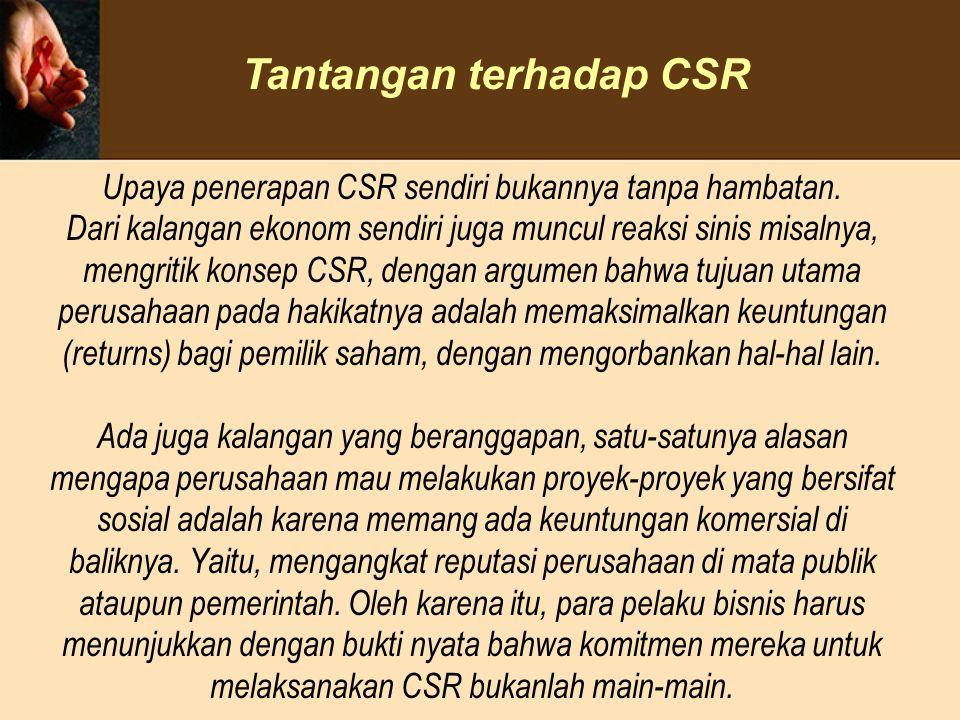 Tantangan terhadap CSR
