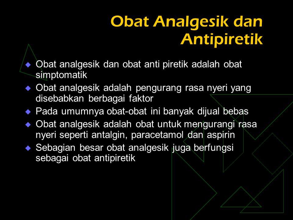 Obat Analgesik dan Antipiretik