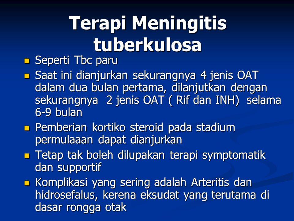 Terapi Meningitis tuberkulosa