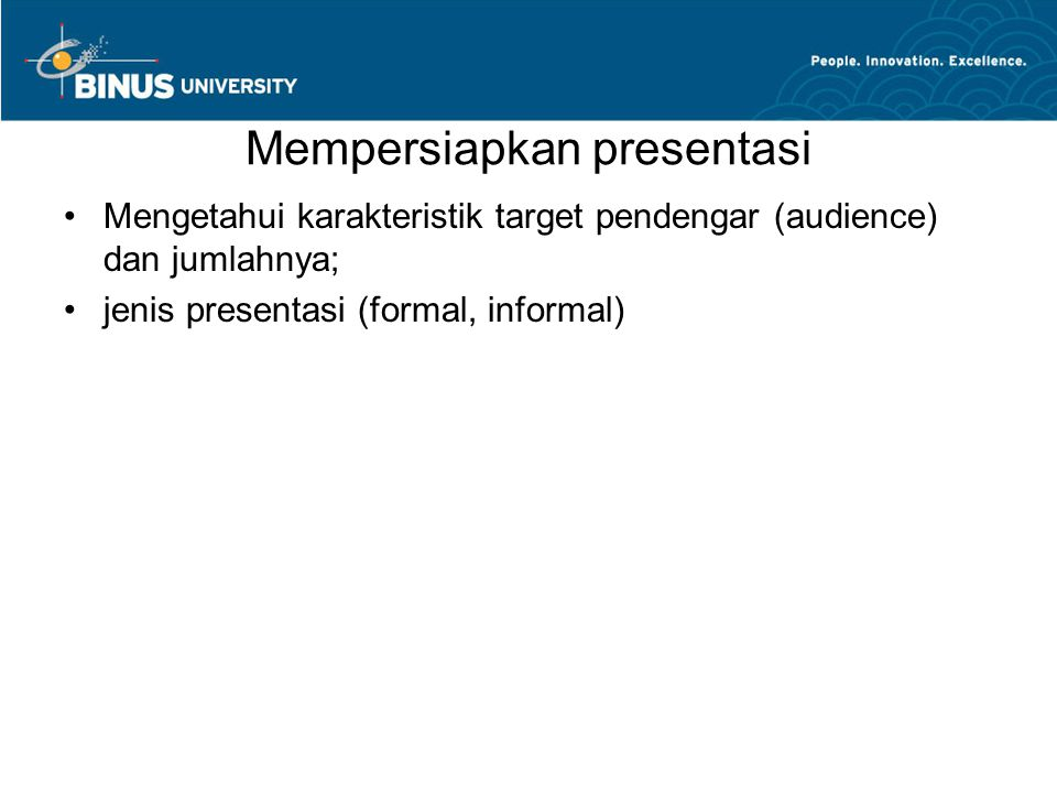 Mempersiapkan presentasi