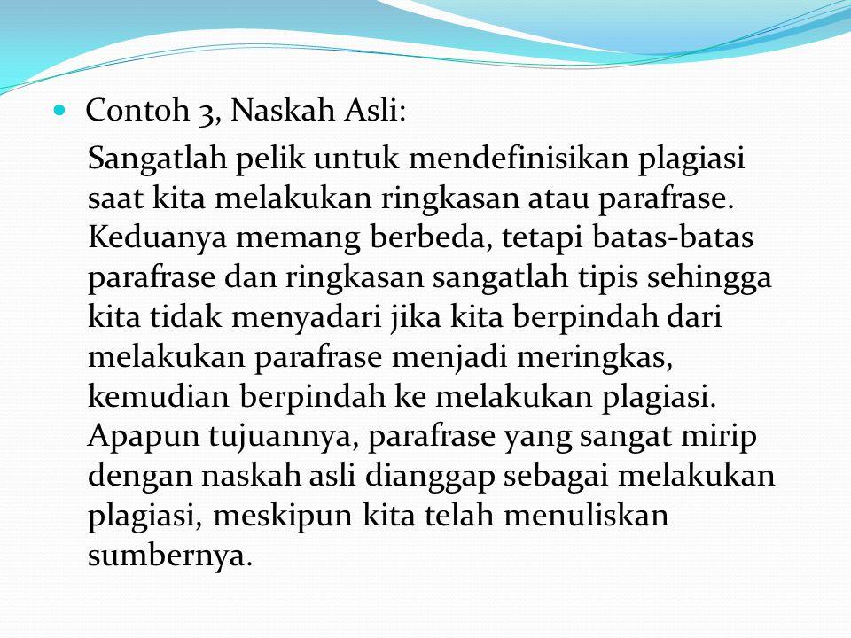 Contoh 3, Naskah Asli: