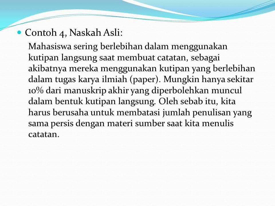 Contoh 4, Naskah Asli: