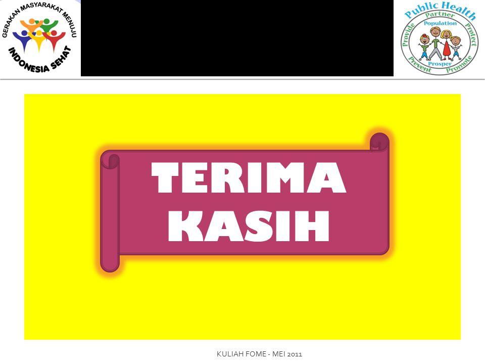 TERIMA KASIH KULIAH FOME - MEI 2011