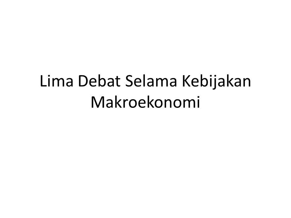 Lima Debat Selama Kebijakan Makroekonomi