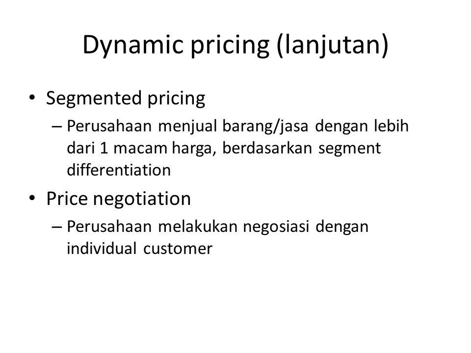Dynamic pricing (lanjutan)