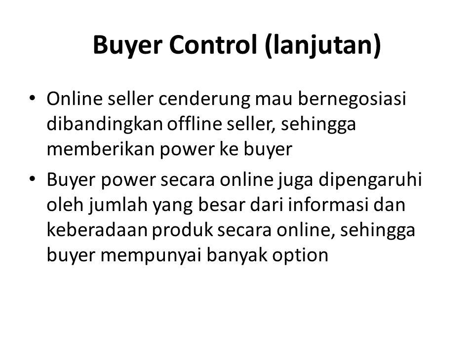 Buyer Control (lanjutan)