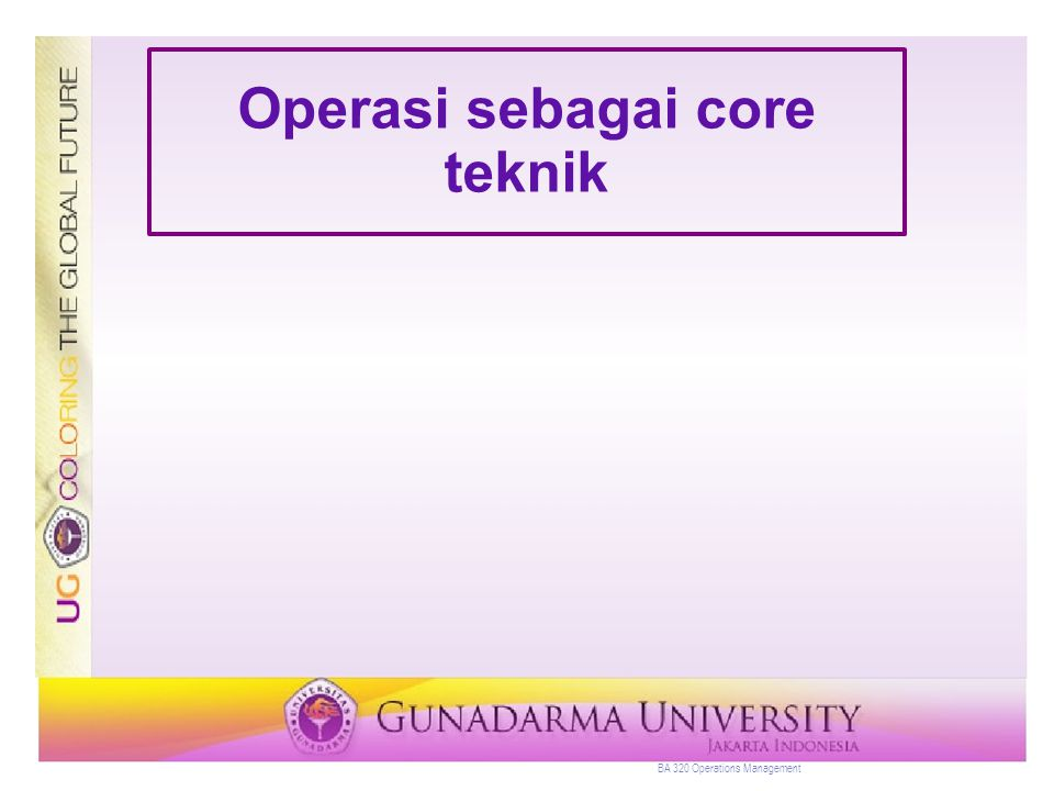 Operasi sebagai core teknik