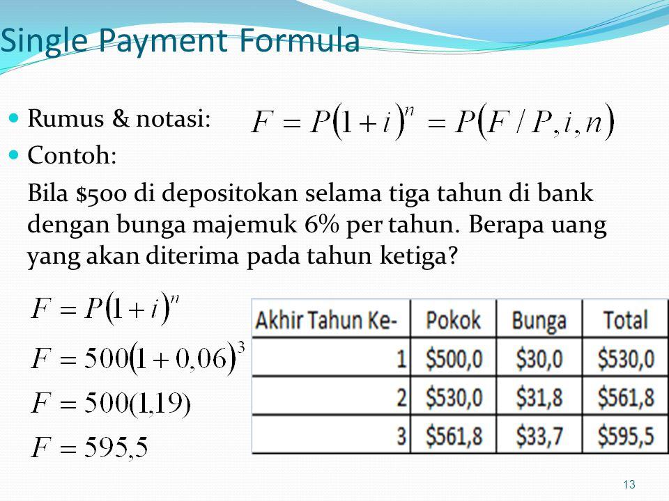 Single Payment Formula