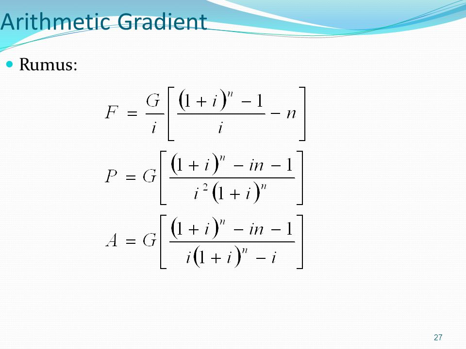 Arithmetic Gradient Rumus: