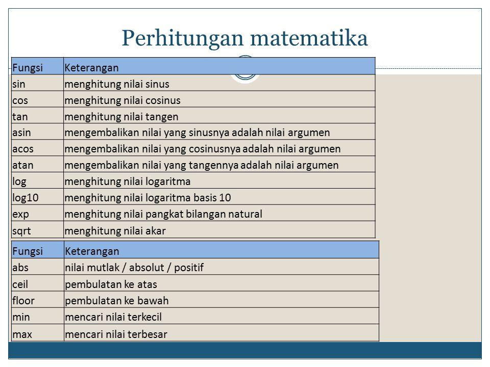 Perhitungan matematika