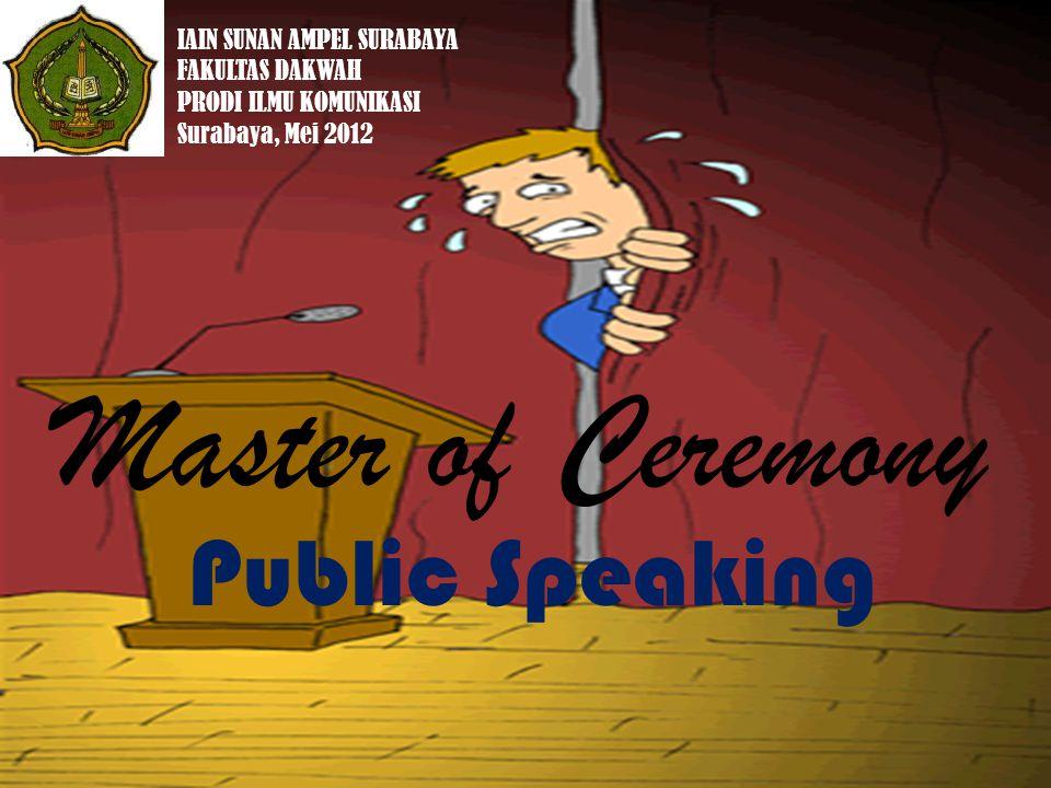 Master of Ceremony Public Speaking IAIN SUNAN AMPEL SURABAYA