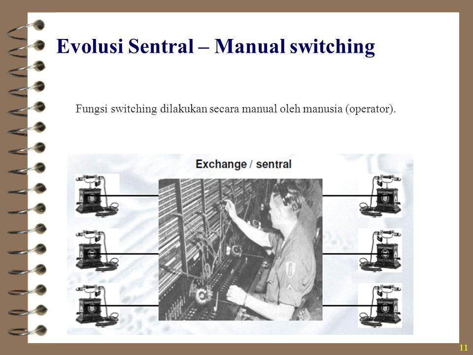 Evolusi Sentral – Manual switching
