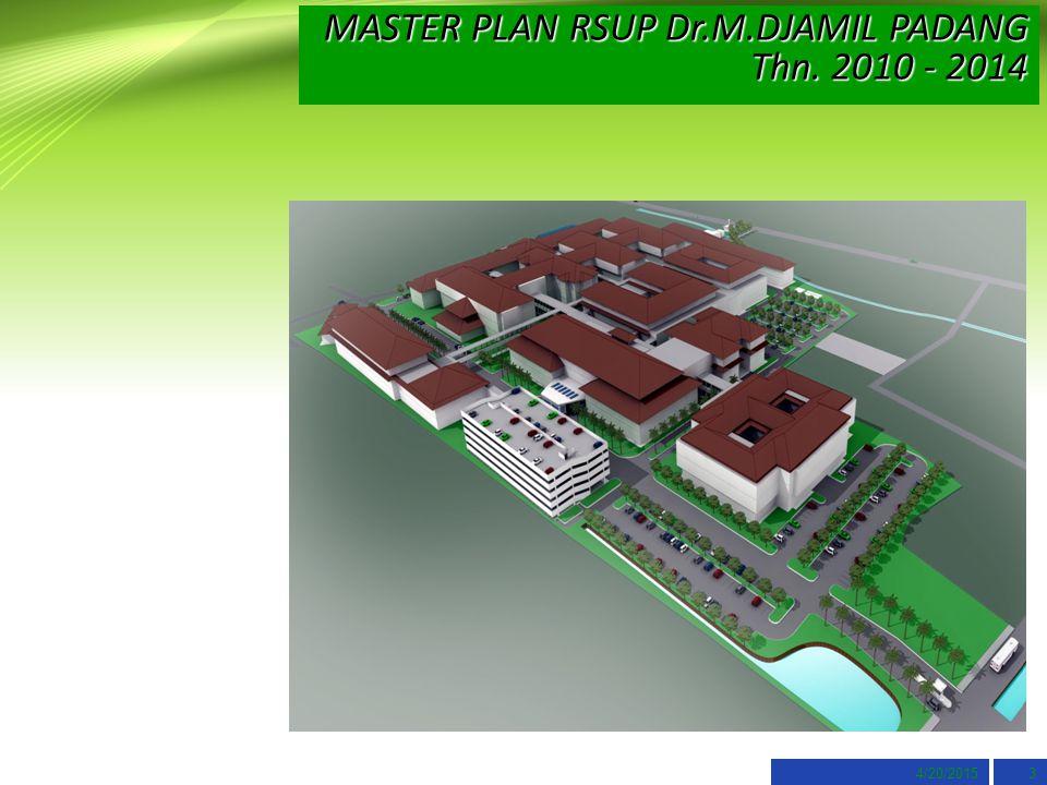 MASTER PLAN RSUP Dr.M.DJAMIL PADANG Thn. 2010 - 2014