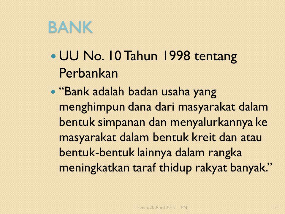 BANK UU No. 10 Tahun 1998 tentang Perbankan