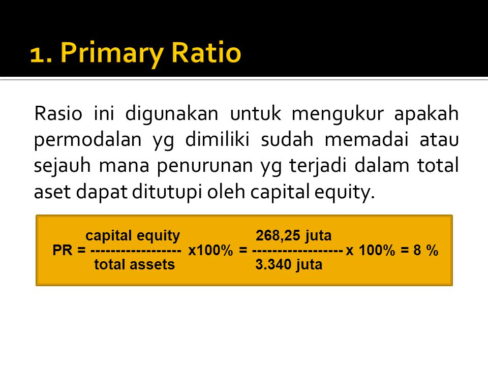 1. Primary Ratio