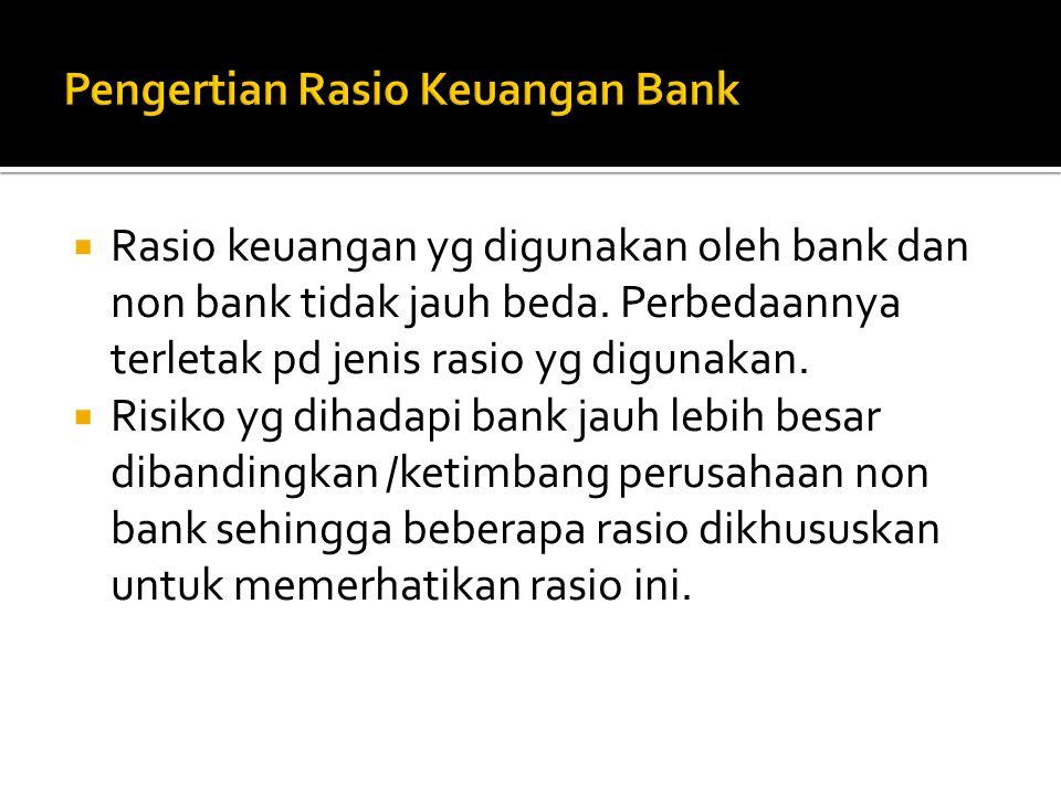 Pengertian Rasio Keuangan Bank