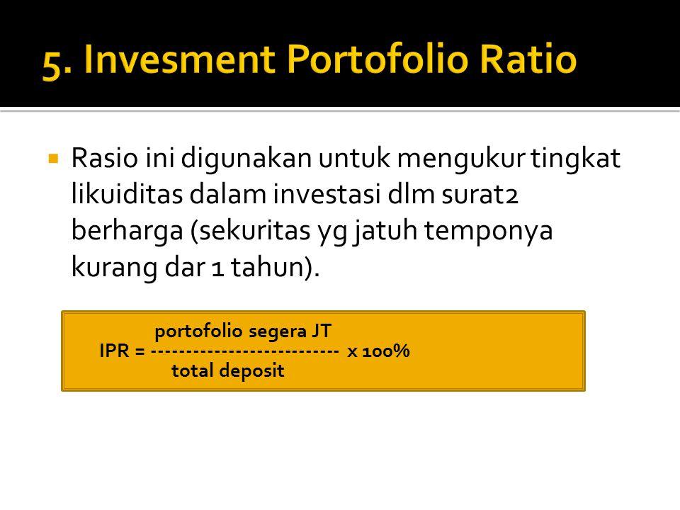 5. Invesment Portofolio Ratio