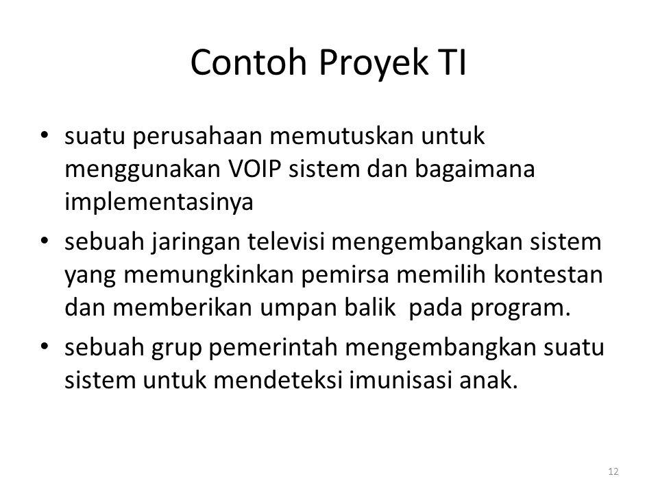 Contoh Proyek TI suatu perusahaan memutuskan untuk menggunakan VOIP sistem dan bagaimana implementasinya.