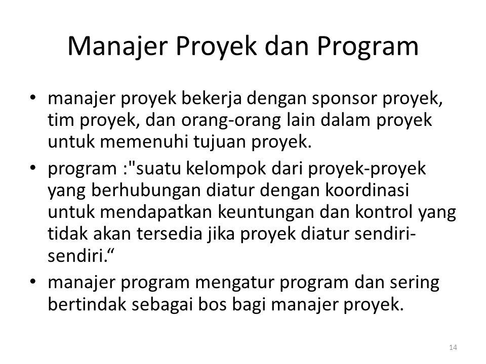 Manajer Proyek dan Program