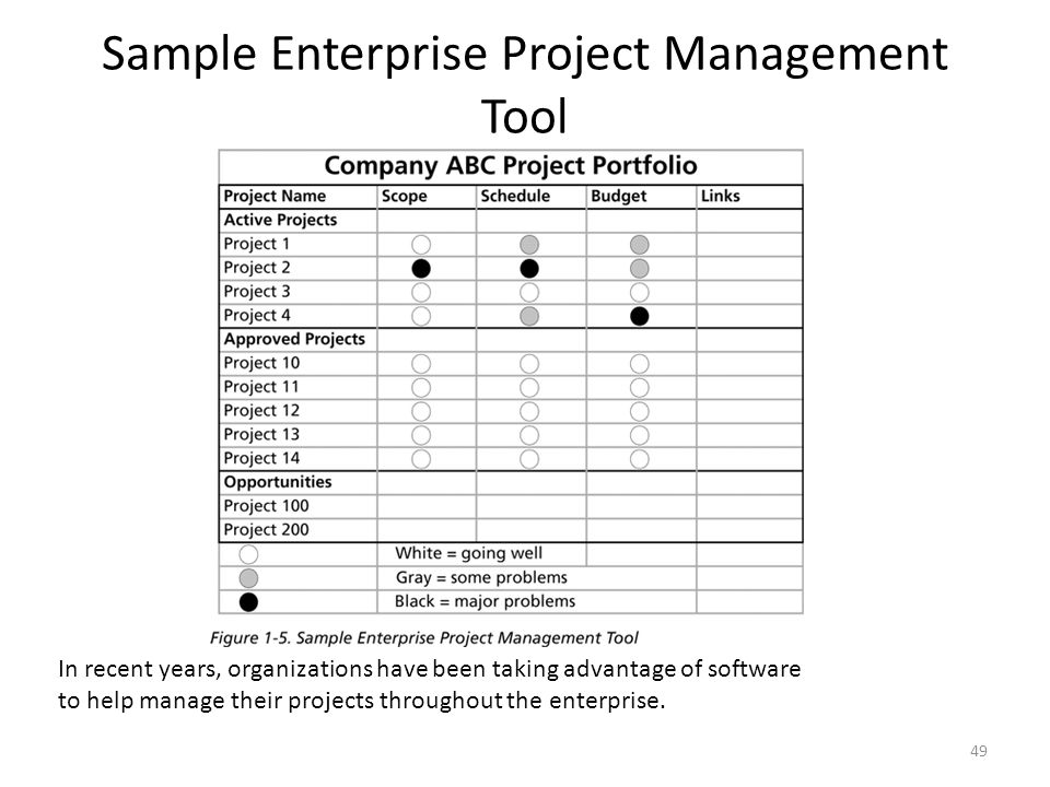 Sample Enterprise Project Management Tool