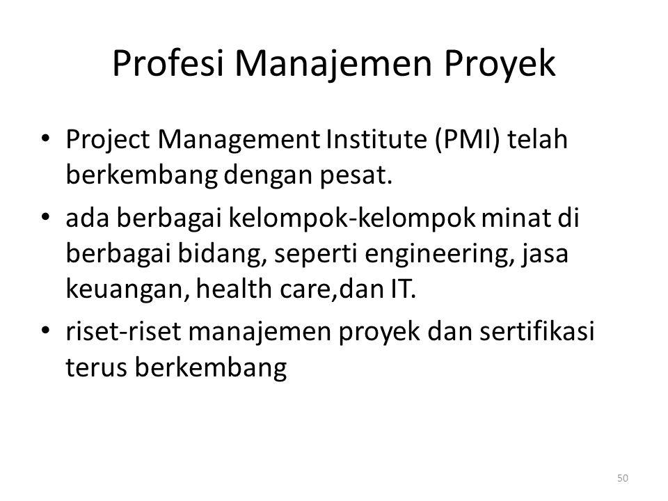 Profesi Manajemen Proyek