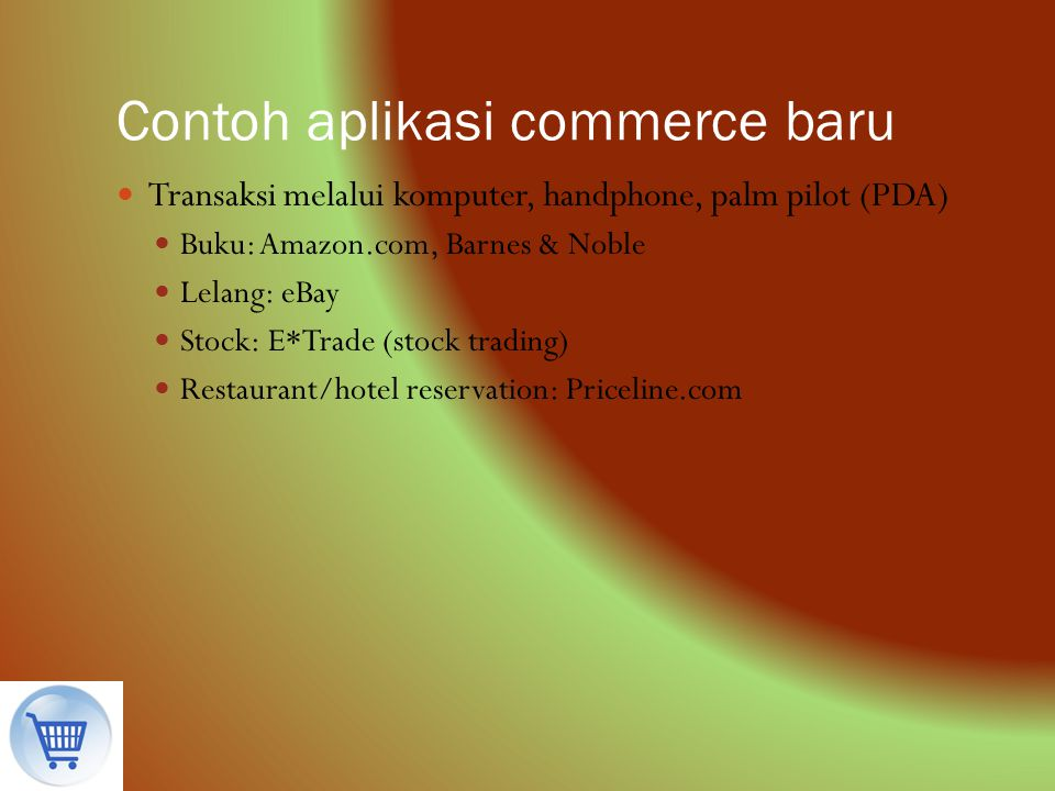 Contoh aplikasi commerce baru