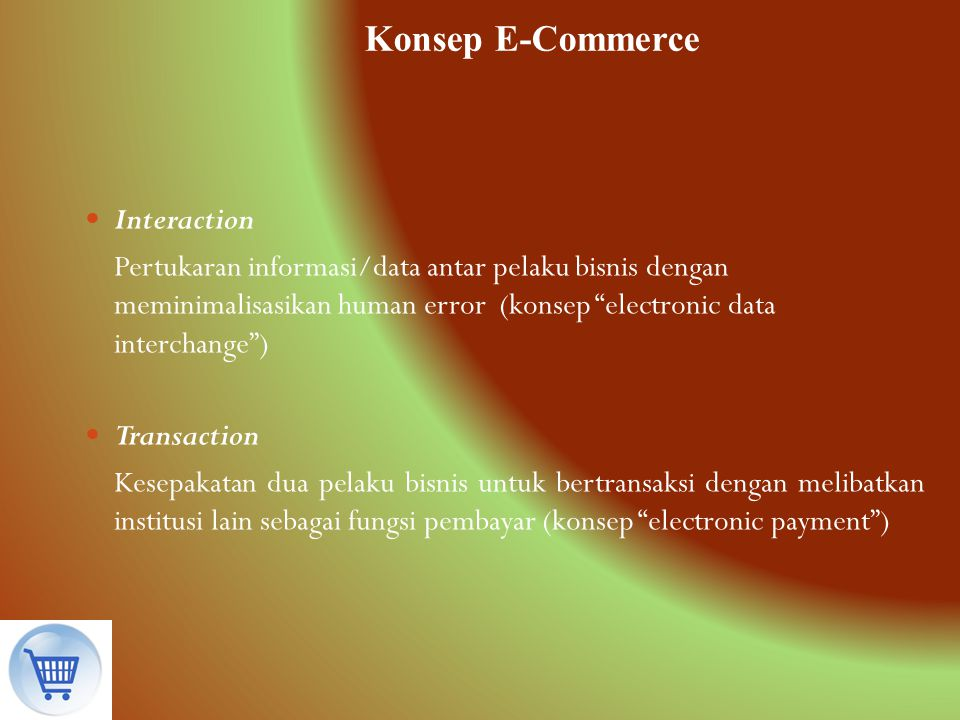 Konsep E-Commerce Interaction