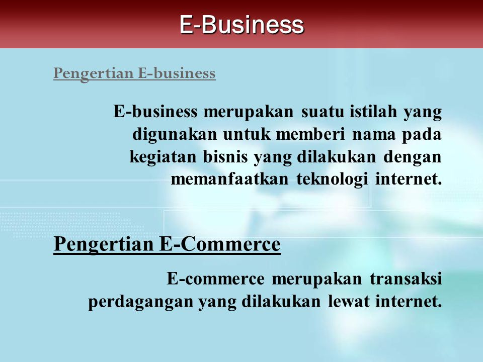 Pengertian E-business