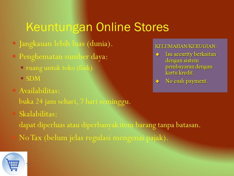 Keuntungan Online Stores