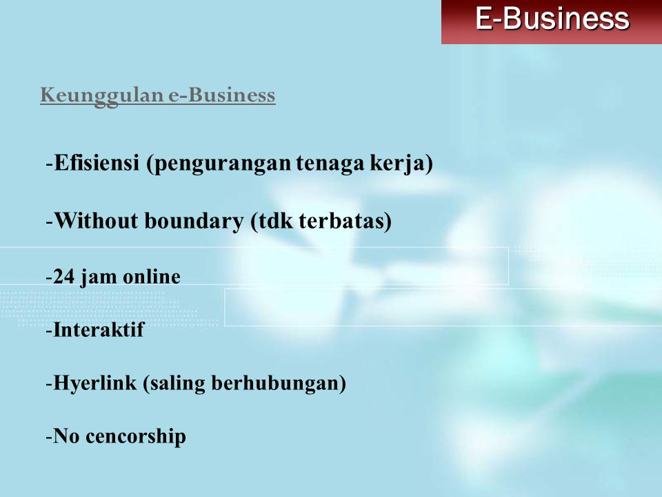 Keunggulan e-Business