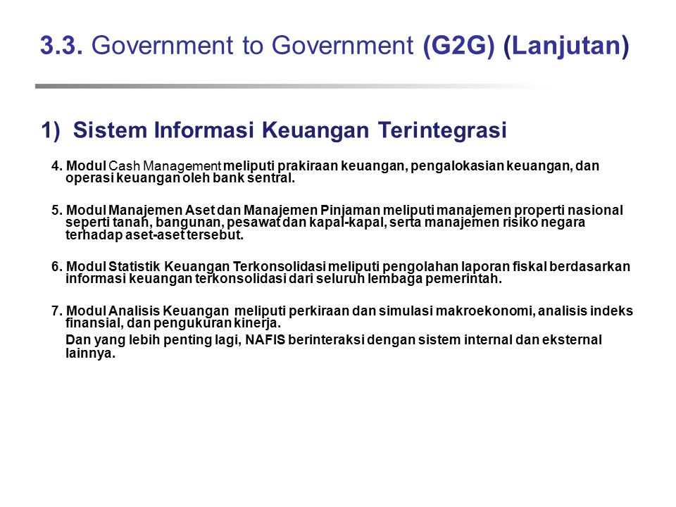 3.3. Government to Government (G2G) (Lanjutan)