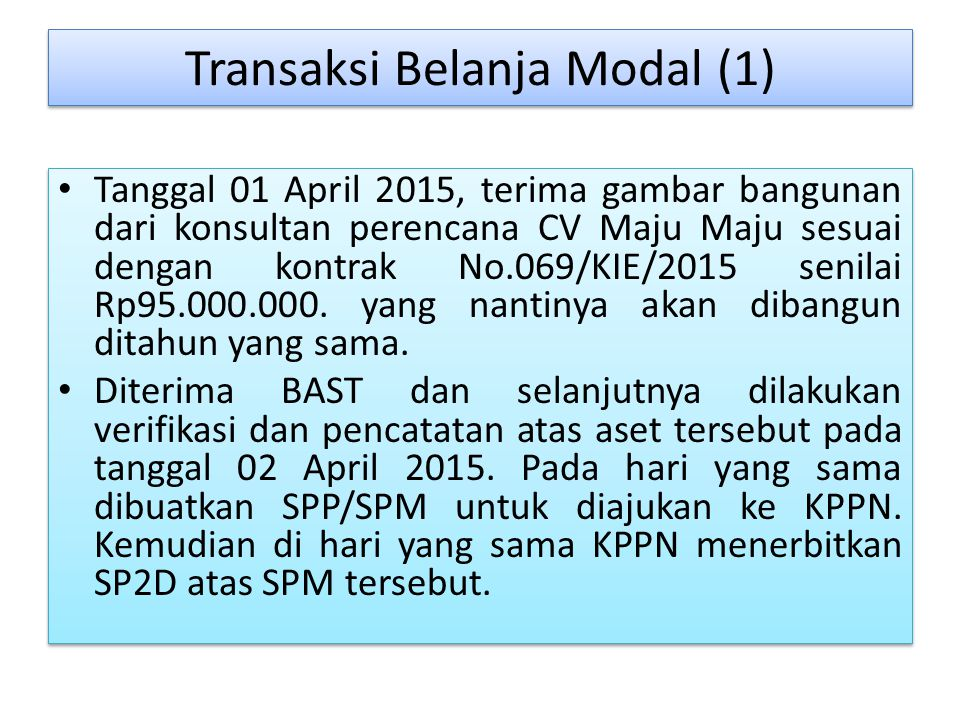 Transaksi Belanja Modal (1)