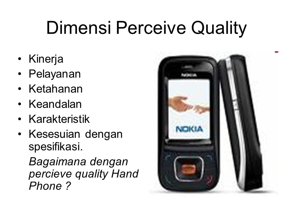 Dimensi Perceive Quality