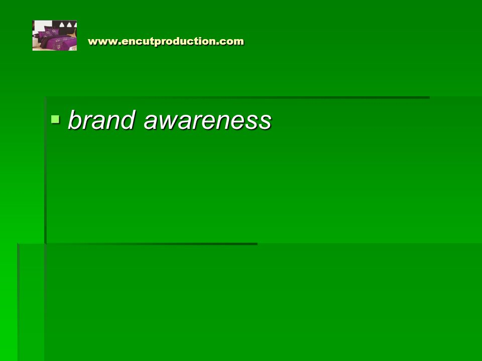 www.encutproduction.com brand awareness