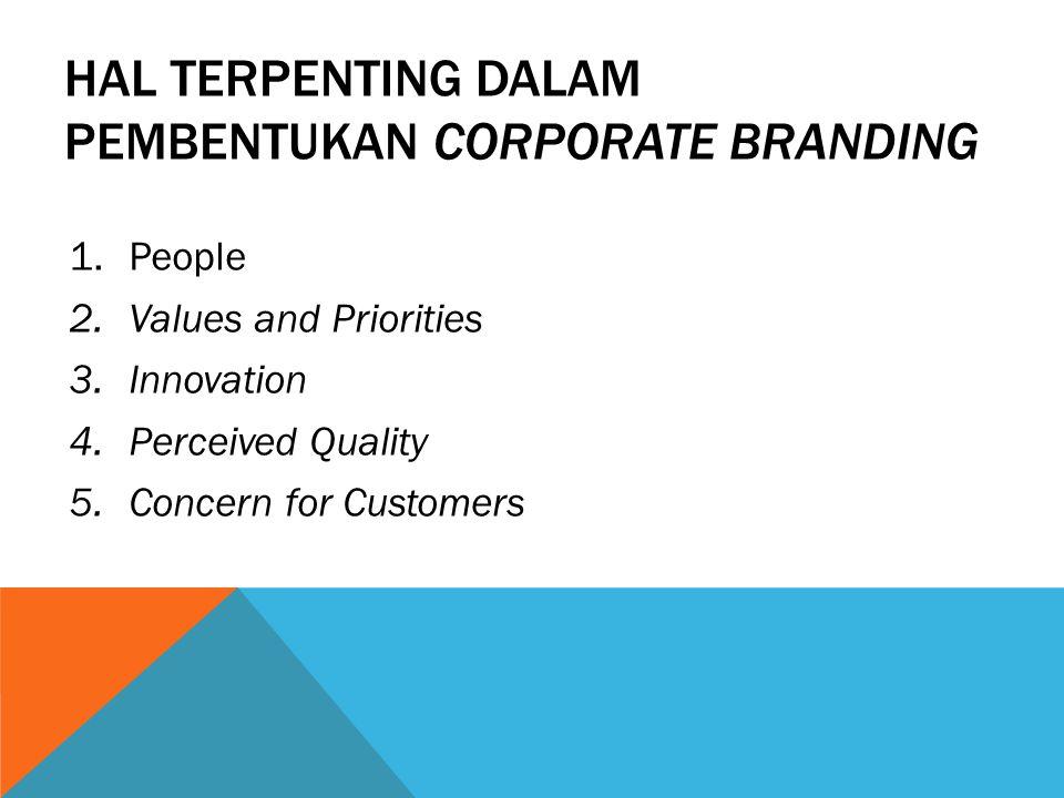 Hal terpenting dalam pembentukan corporate branding