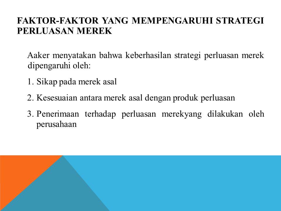 Faktor-faktor yang mempengaruhi strategi perluasan merek