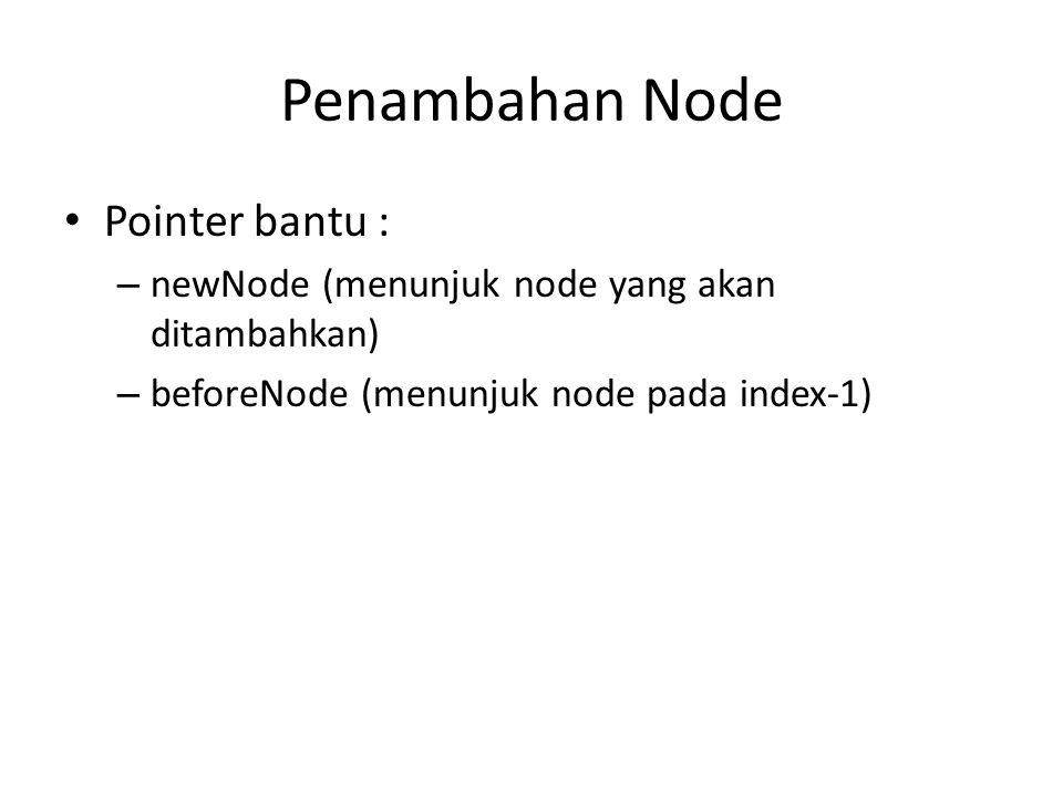 Penambahan Node Pointer bantu :