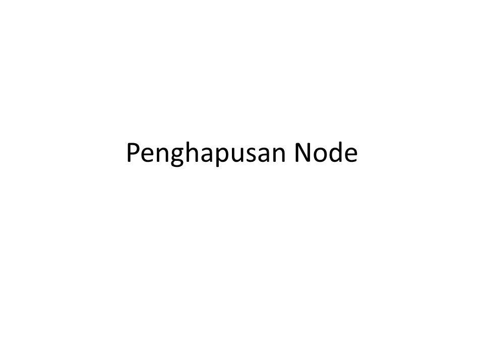 Penghapusan Node