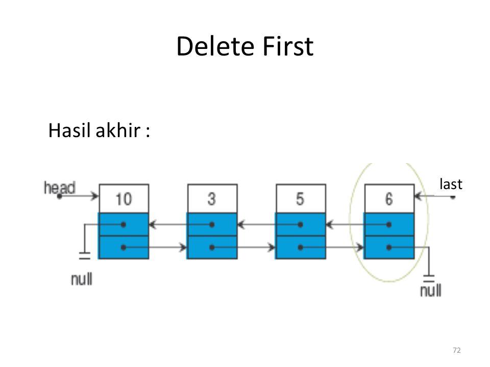 Delete First Hasil akhir : last