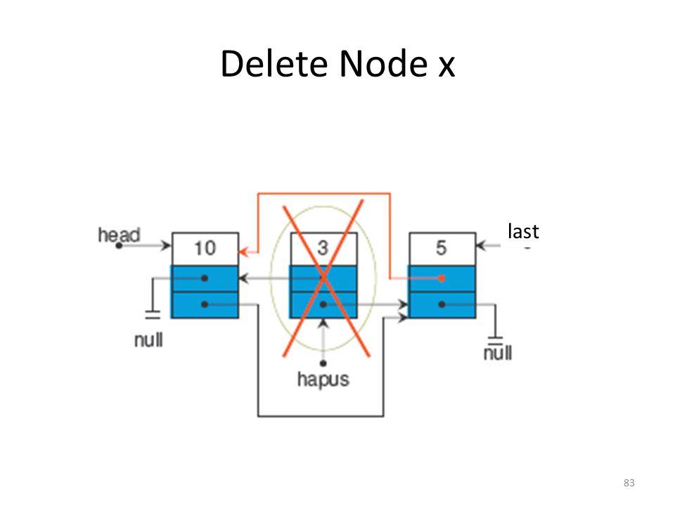 Delete Node x last