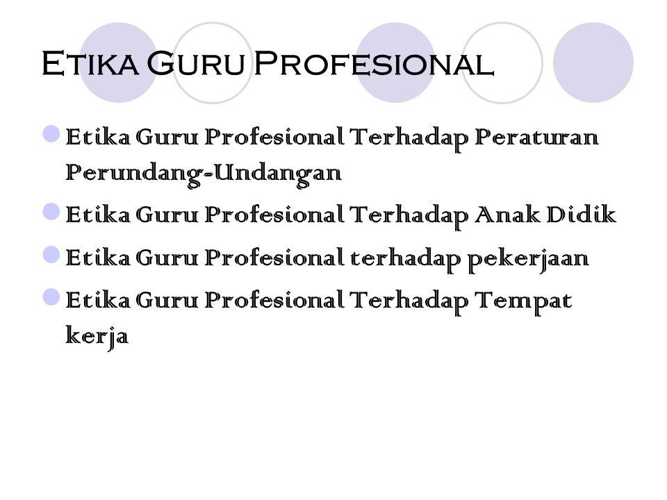Etika Guru Profesional