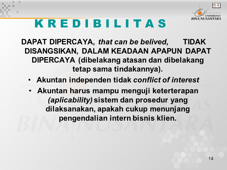 Akuntan independen tidak conflict of interest