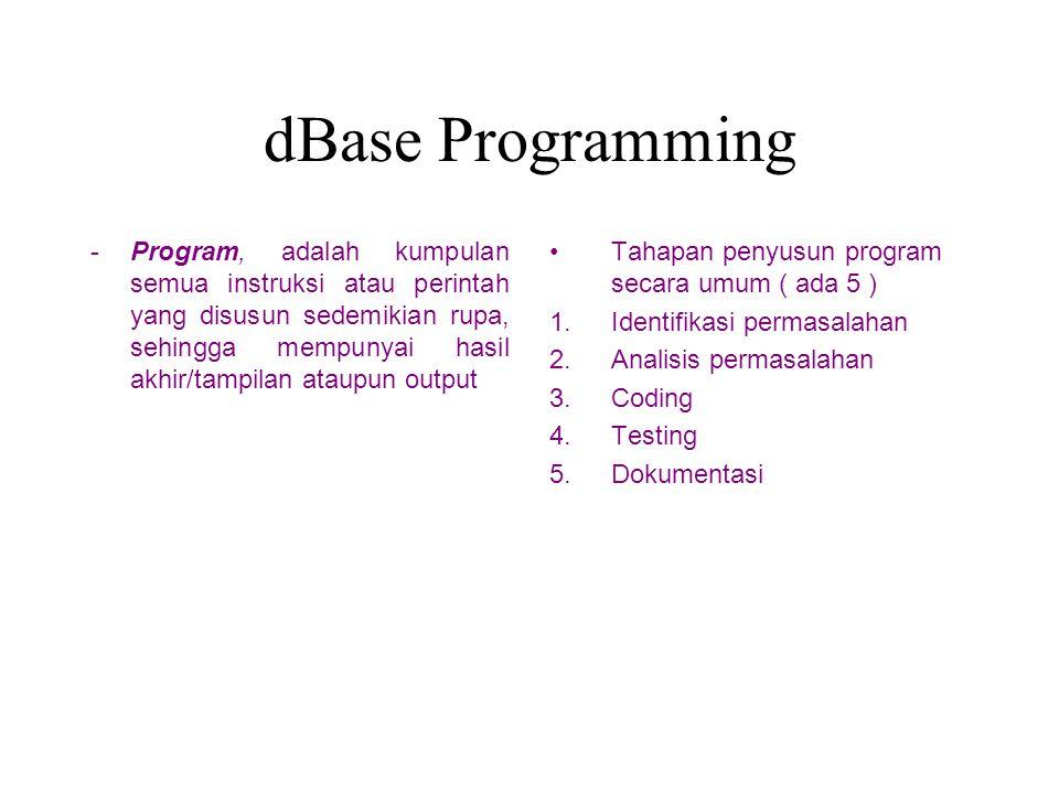 dBase Programming