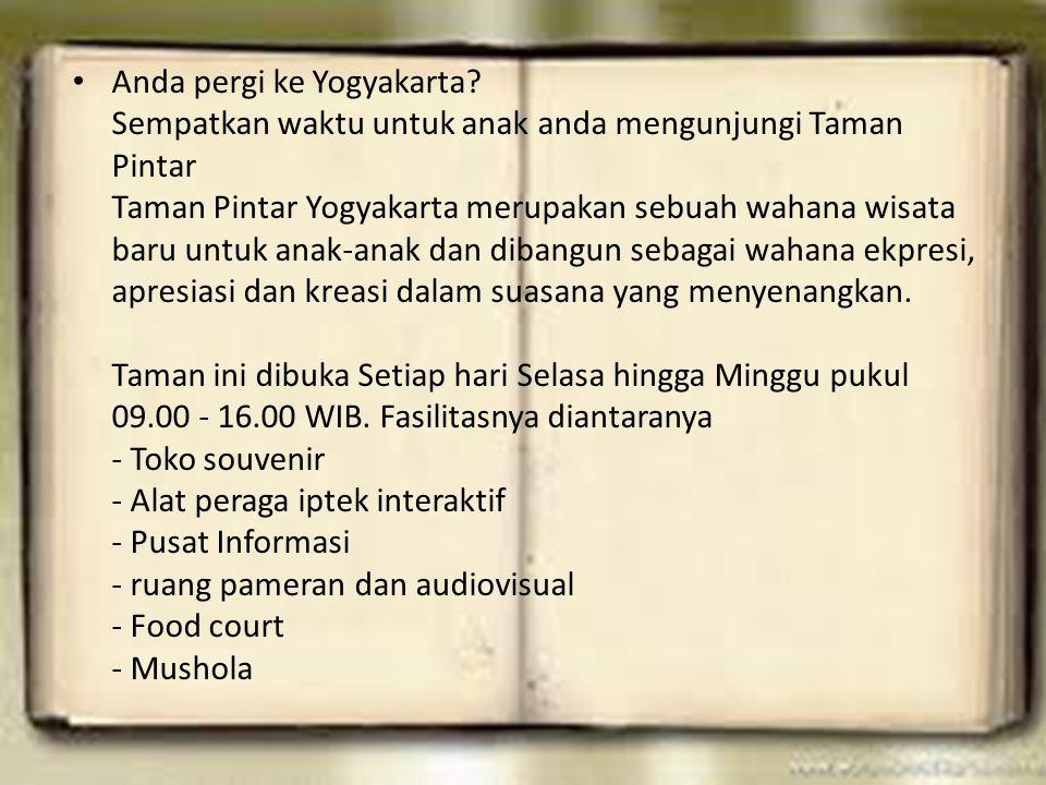 Anda pergi ke Yogyakarta