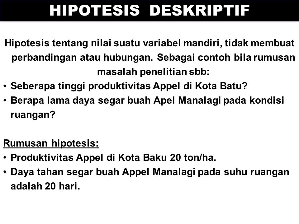 HIPOTESIS DESKRIPTIF
