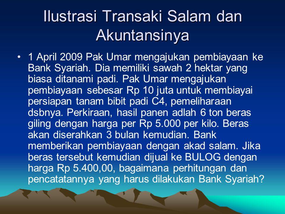 Ilustrasi Transaki Salam dan Akuntansinya