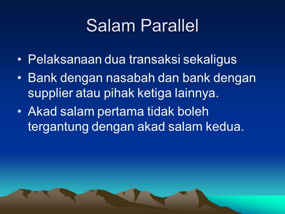 Salam Parallel Pelaksanaan dua transaksi sekaligus